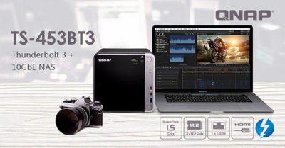 QNAP lansează TS-453BT3, un NAS cu Thunderbolt 3 și 4 sertare, destinat profesioniștilor din domeniul creației