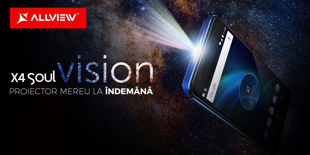 Allview vine în sprijinul antreprenorilor români cu X4 Soul Vision, un telefon cu proiecție laser portabilă