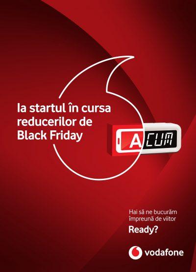Vodafone Romania lanseaza campania Black Friday cu reduceri la toate smartphone-urile din portofoliu si la abonamente .Reduceri de pana la 100% pentru telefoane