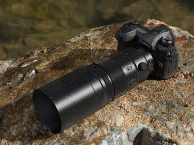 Un nou teleobiectiv  compact și ușor cu POWER O.I.S. Pentru fotografiere fără trepied echivalentă cu 400 mm