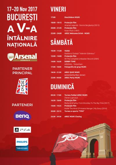 Arsenal România Supporters Club organizează la București cea de-a V-a Adunare Națională