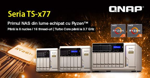 Primul NAS din lume cu procesor Ryzen: QNAP livrează modelul TS-x77 pentru mediul de afaceri