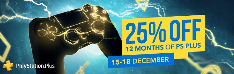 Abonamentul PlayStation Plus pe 12 luni, acum cu 25% reducere  Ofertă disponibilă pentru toți jucătorii, inclusiv abonații curenți