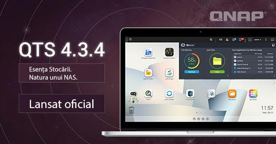 QNAP a lansat QTS 4.3.4, o actualizare ce îmbunătățește performanțele NAS-urilor și protecția prin snapshot-uri