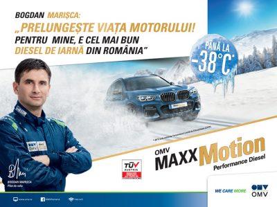OMV MaxxMotion Diesel prelungește viața motorului chiar și în cele mai aspre condiții de iarnă*