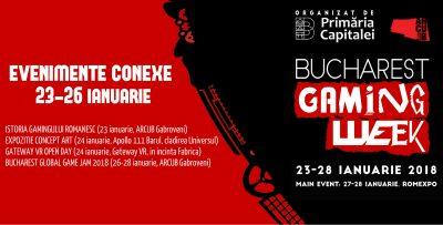 Pasionații de gaming se vor bucura de expoziții, workshop-uri, game jam-uri și experiențe VR în cadrul Bucharest Gaming Week
