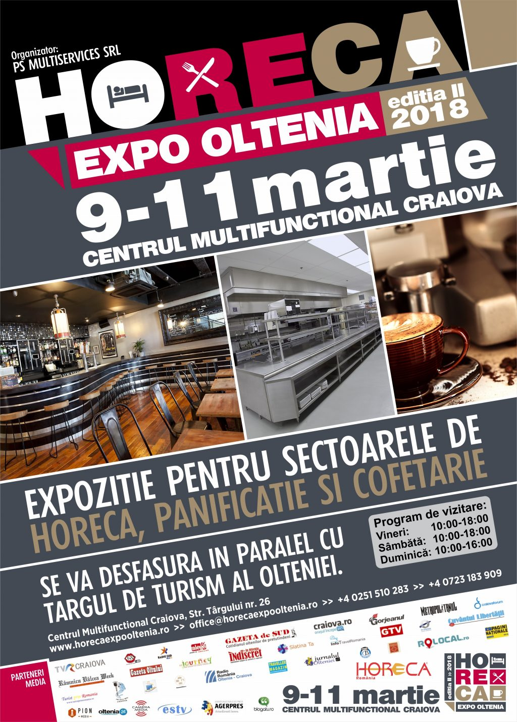 HoReCa EXPO Oltenia ed. a II-a – cel mai mare eveniment dedicat industriei horeca din Oltenia se va desfasuara in perioada 9-11 martie la Craiova