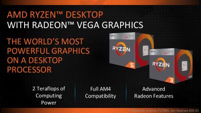 AMD prezintă noi produse CPU și GPU cu performante ridicate în cadrul CES 2018