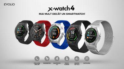 Evolio lanseaza un nou ceas intelligent, X-watch 4: design elegant, procesor de ultima generatie, sensor de puls si functii de asistent si antrenor personal.
