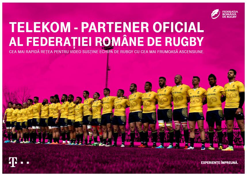 Telekom, partener oficial al Echipei Naționale de Rugby a României