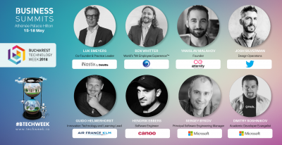 Twitter, Microsoft, iNostix by Deloitte și Air France KLM trimit lideri internaționali la Bucharest Technology Week 2018
