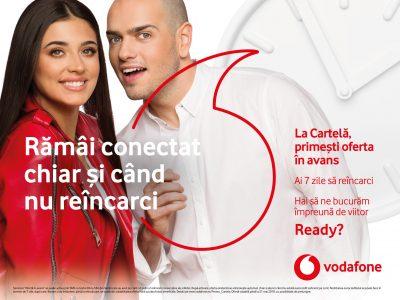 Utilizatorii Cartelei Vodafone pot ramane conectati chiar daca nu au credit suficient pe cont, prin noul serviciu gratuit Oferta in avans