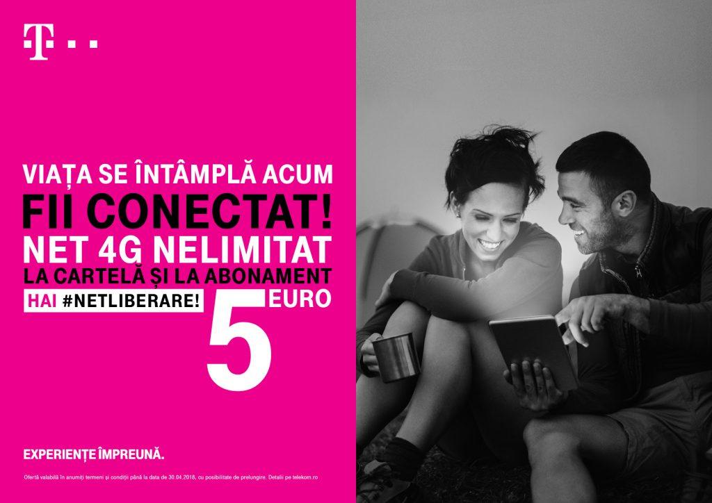 Telekom extinde traficul nelimitat de date 4G și pentru segmentul prepaid, de la 5 euro credit