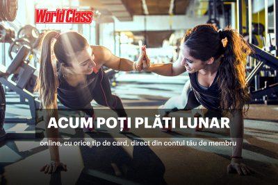 World Class anunță introducerea unei metode inovatoare de plată, pentru prima dată pe piața de sănătate și fitness din România