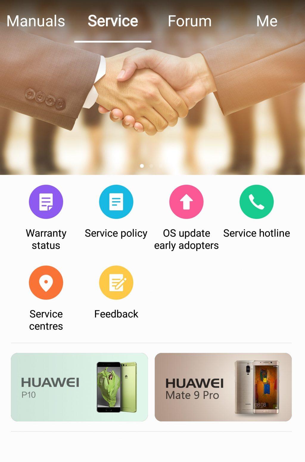 HiCare pentru utilizatorii Huawei