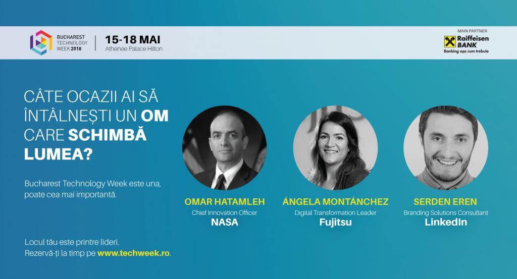 Numărătoarea inversă până la festivalul tehnologiei a început NASA, FUJITSU și PAL ROBOTICS vin la Bucharest Technology Week