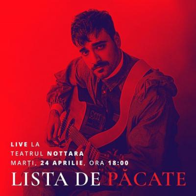 """Liviu Teodorescu va susține primul său mare concert """"Lista de pacate"""""""
