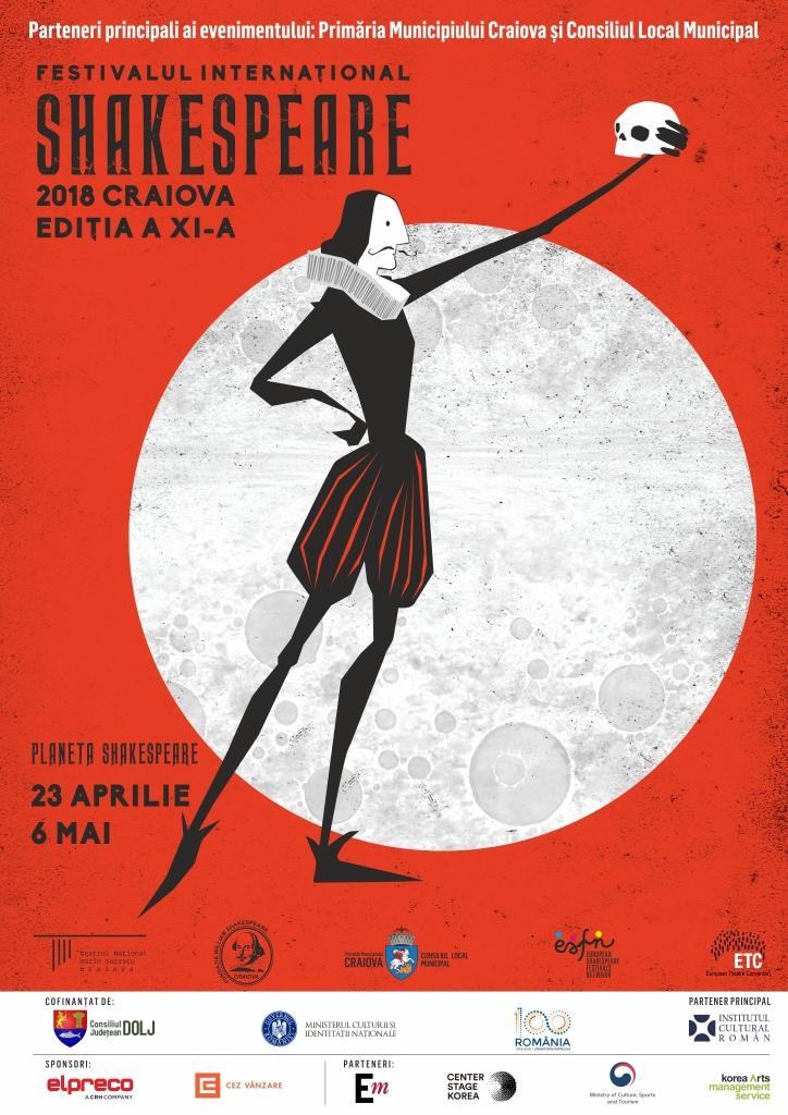 Luni, 23 aprilie,începe cea de-a XI-a ediție a Festivalului Internațional Shakespeare, Craiova