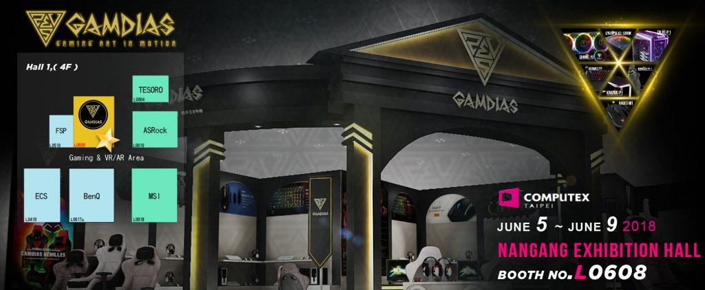 GAMDIAS va prezenta cel mai nou line-up de produse  la COMPUTEX 2018