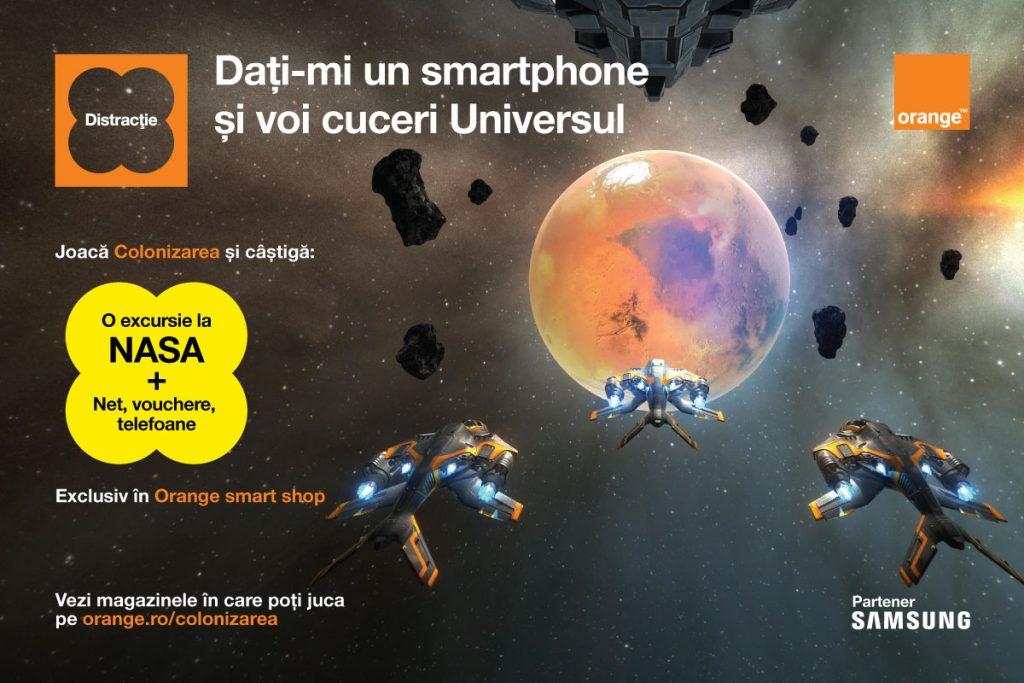 Orange România lansează Colonizarea, parte a platformei Tech a Break.Depășește-ți limitele, trăiește întreaga experiență a jocului şi poţi vizita centrul NASA.