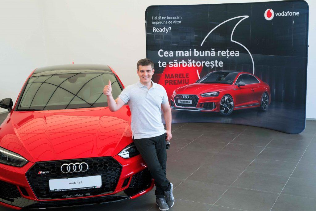 Vodafone Romania anunta castigatorul celui de-al doilea Audi RS5 din cadrul campaniei aniversare