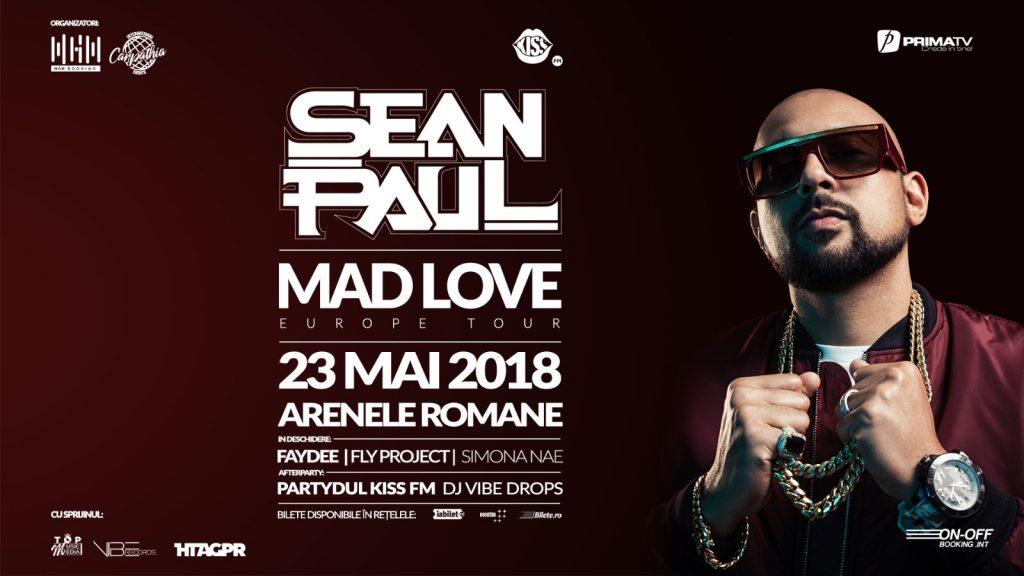 23 Mai – Arenele Romane – concert Sean Paul