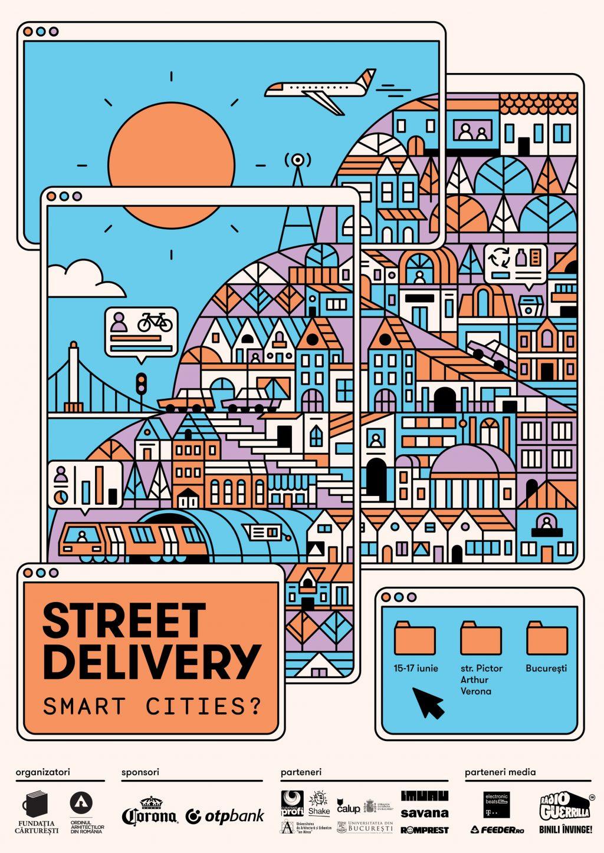 Street Delivery:  Pictura murala de mari dimensiuni si muzica buna, transmise live prin echipamentele Axis
