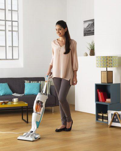Time to party? Time to clean? Rowenta Clean & Steam te ajuta sa termini curatenia la timp