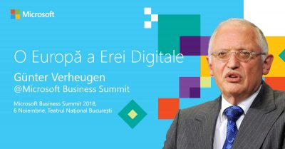 Günter Verheugen, pe scena Microsoft Business Summit