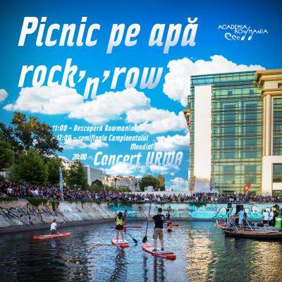 Picnic pe apă Rock'n'row pe malul Dâmboviței: concurs de vâslit în canotcă, finala mică a Campionatului Mondial și concert URMA