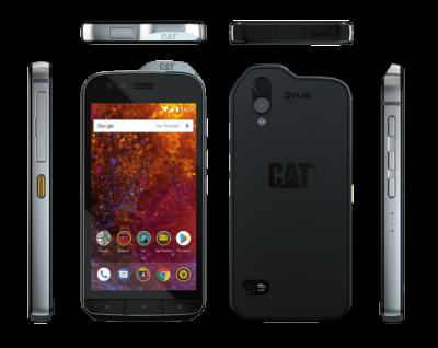 Smartphone-ul Cat® S61, acum la vânzare Dotat cu instrumente de lucru: imagistică termică integrată, senzor pentru măsurarea calității aerului din interior și măsurarea distanței asistate de laser