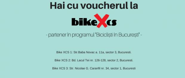 """BikeXCS: 10% reducere la bicicleta cumparata cu voucherul """"Biciclisti in Bucuresti"""""""