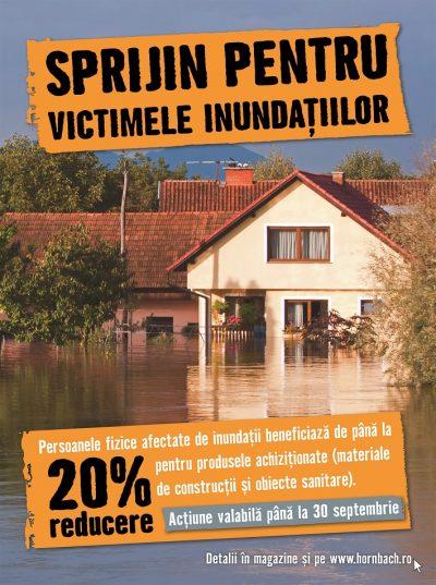 HORNBACH sprijină victimele inundațiilor din România