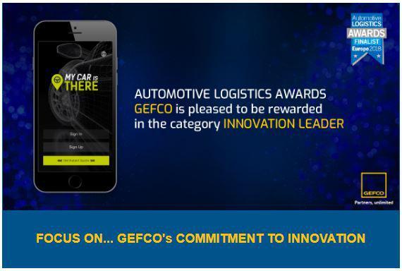 PREMII ÎN LOGISTICA AUTOMOBILISTICĂ GEFCO are onoarea de a fi premiat în categoria LIDER ÎN INOVAȚIE