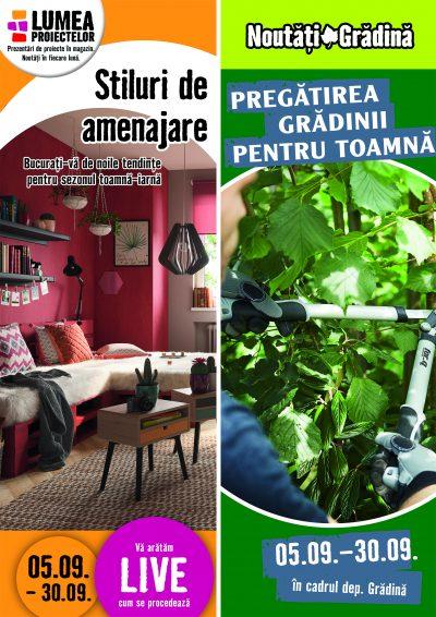 Patru stiluri noi de amenajare și pregătirea grădinii pentru toamnă, proiectele lunii septembrie la HORNBACH