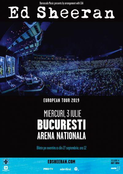 ED SHEERAN ANUNȚĂ PRIMUL SĂU CONCERT ÎN ROMÂNIA! 3 IULIE 2019, Arena Națională – București