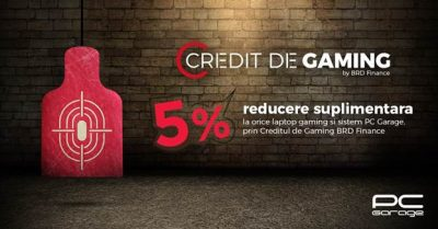 PC Garage lansează o nouă provocare:  Creditul de Gaming, prin BRD Finance