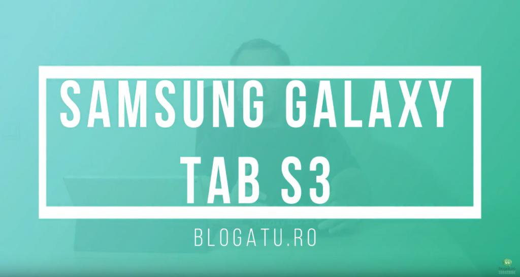 Unboxing Samsung Galaxy Tab S3