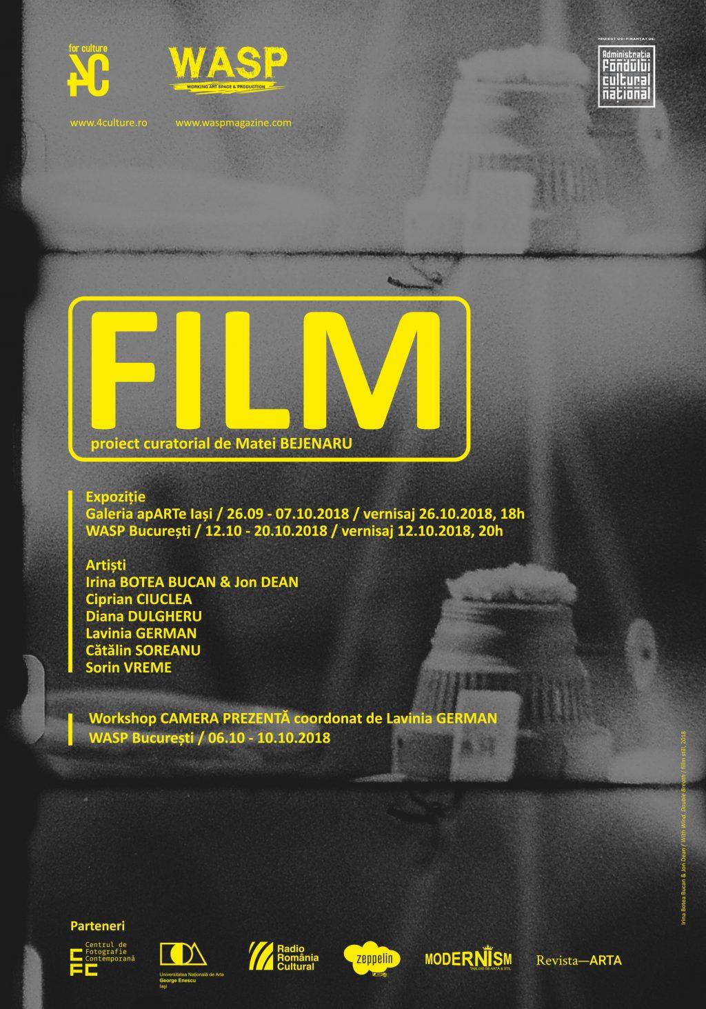 Expoziția FILM – proiect curatorial va fi deschisă în București vineri, 12 octombrie 2018