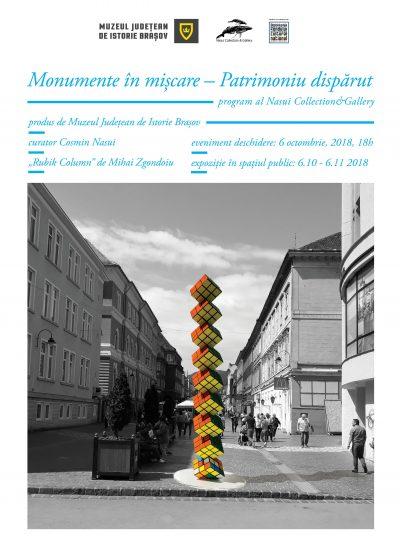 Monumente in miscare – patrimoniu disparut la Brasov: sculpturi monumentale contemporane plasate temporar pe spatii de monumente disparute