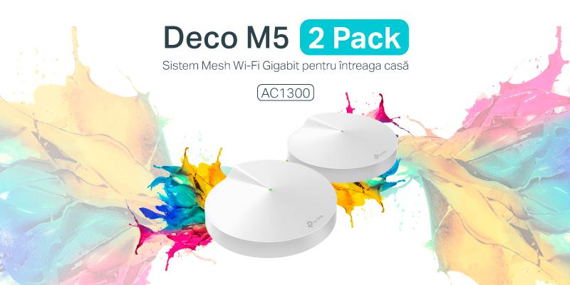 TP-Link lansează Deco M5 2 pack – sistem Wi-Fi Gigabit accesibil, ideal pentru conexiuni rapide și stabile