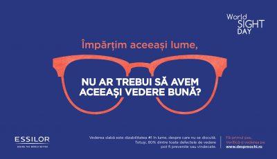 Essilor contribuie la creșterea nivelului de conștientizare pentru o vedere  bună,  cu ocazia Zilei Mondiale a Vederii