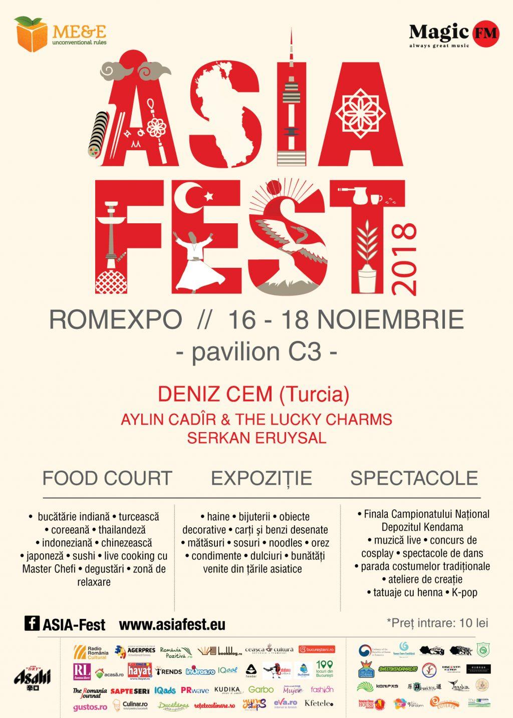 Asia Fest revine cu a șasea ediție dedicată Turciei Arte marțiale, K-pop, dans Bollywood, Cosplay, cultură și gastronomie asiatică, între 16 – 18 noiembrie în pavilionul C3 al Romexpo