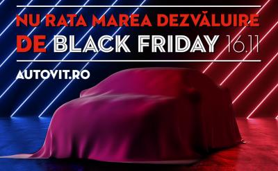 Autovit.ro Black Friday: Autoturisme în valoare de 6.2 milioane de euro la vânzare cu reduceri de până la 50%