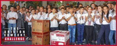 În cadrul campaniei Comfort Challenge, Ariston Thermo România facilitează accesul la apă caldă pentru cca. 32.000 de copii și vârstnici din întreaga țară
