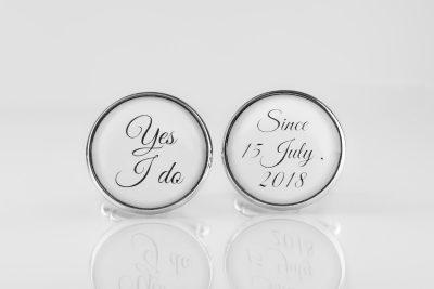 Butoni argint personalizati pentru gentlemani moderni