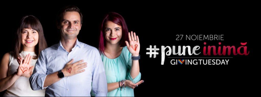 România #puneinima de Giving Tuesday  pe 27 noiembrie