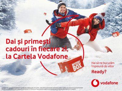 Utilizatorii Cartelei Vodafone pot castiga un Mercedes-Benz C-Class Coupe, 4 carduri cu cate 12.000 de euro, 40 de smartphone-uri Huawei Mate 20 Pro si premii de 1 milion de MB