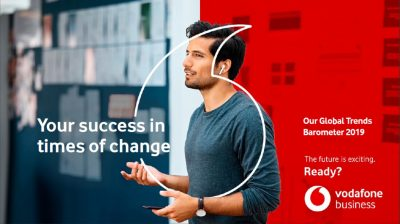 Grupul Vodafone lanseaza Raportul Tendintelor Globale 2019 si prezinta noua identitate de brand a diviziei enterprise
